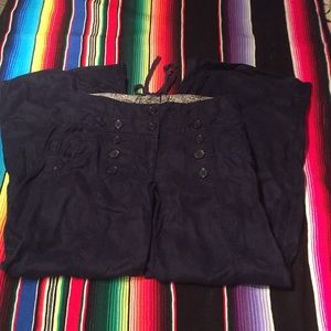 Anthropologie linen sailor pants